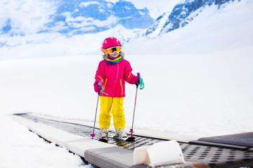 Child on ski lift