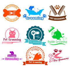 Pet Grooming Service Business Logos