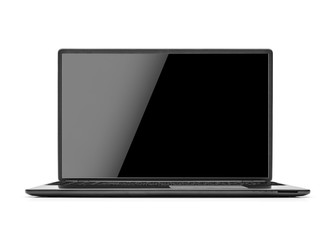 Laptop isolated on white.