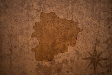 andorra map on vintage crack paper background