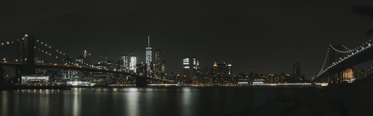 New York Skyline in the dark