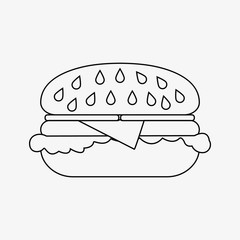 Simple Burger icon