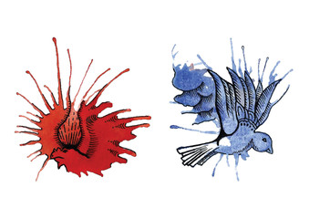 dragon and dove from blots