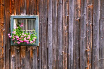 Window at a farmhouse