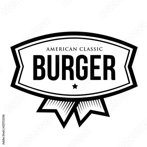 Burger american classic vintage logo stock image and for American classic logo