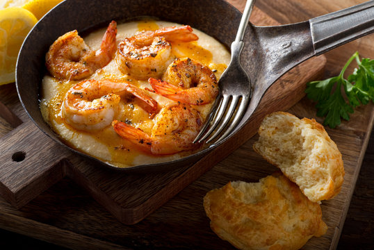 Cajun Style Shrimp and Grits