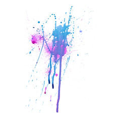 Colorful abstract watercolor texture with splashes and spatters and drips. Modern creative watercolor background for trendy design.