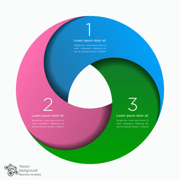 Infographic Vector Background 3-Step Process