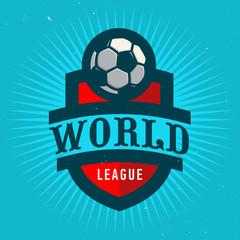 World League. Soccer Emblem Design. Football Badge Template.