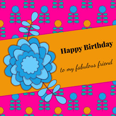 Happy Birthday Label for Holiday . for Invitations and Greeting Cards. Happy Birthday Poster, Banner, Placard or Card  Vector