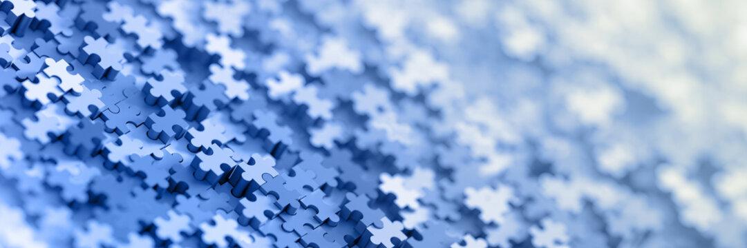 Jigsaw three dimensional background