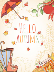 Autumn invitation card.
