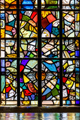 Stained glass in London tower