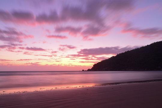 Sunrise over Finch Bay Beach