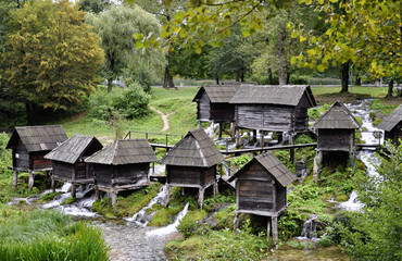 Old wooden water mills, Jajce in Bosnia and Herzegovina
