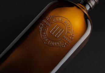 Embossed Logo Mockup on Bottle