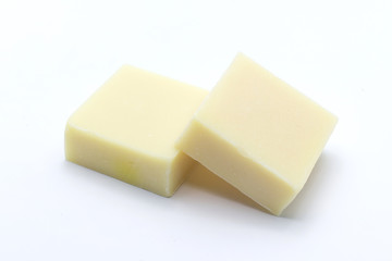 Rice milk soap produced from natural thailand isolated