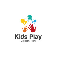 Hands logo creative concept design vector
