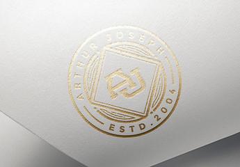 Metallic Foil Stamping Mockup 01