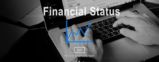 Wall Mural - Financial Status Budget Credit Debt Planning Concept