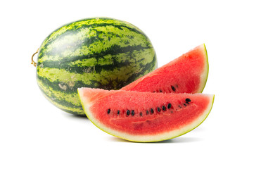 sliced red watermelon isolated