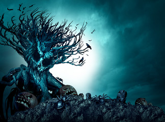 Halloween Creepy Background