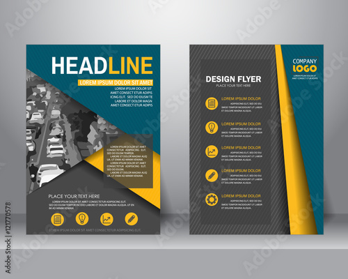 formal business brochure flyer design layout template in a4 size