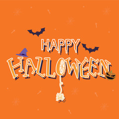 Halloween elements and background