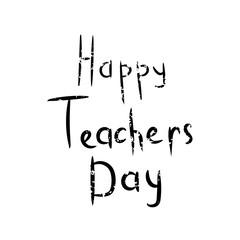 Inscription Happy teacher day