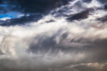Dramatic cloudy wave pattern