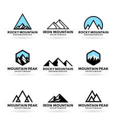 Mountains. Logo design elements (8)