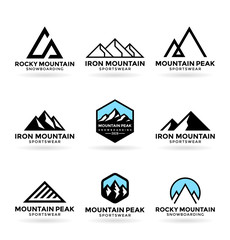 Mountains. Logo design elements (9)