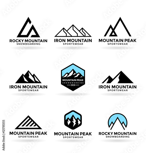 Quot Mountains Logo Design Elements 9 Quot Stockfotos Und Lizenzfreie Vektoren Auf Fotolia Com Bild
