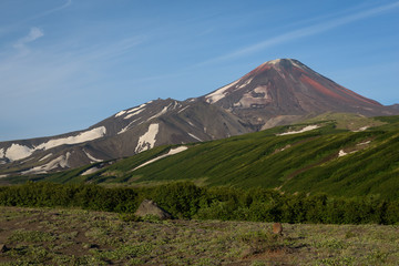 The steep top of Avachinsky Volcano, Kamchatka, Russia