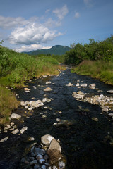 Small river with rocks somewhere in Kamchatka, Russia