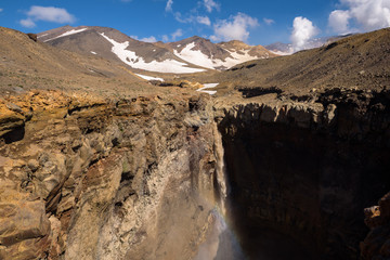 Opasny Canyon on the slopes of Mutnovsky Volcano, Kamchatka, Russia