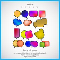 Bubble speech vector