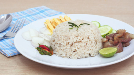 Fried rice with Shrimp paste, Thai food