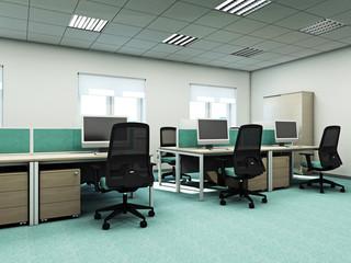 Кабинет сотрудников 3d rendering