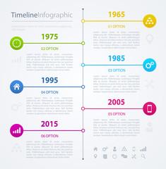 Timeline infographics design template, vector illustration