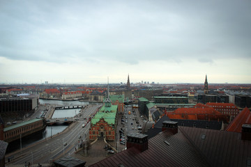 Copenhagen panorama from Christianborg Palace, Denmark
