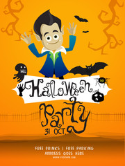 Halloween Party Template, Banner or Flyer.