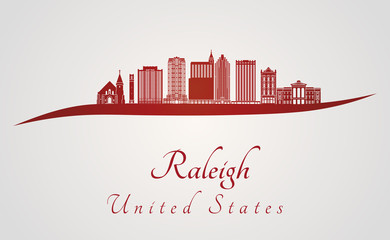 Raleigh V2 skyline in red