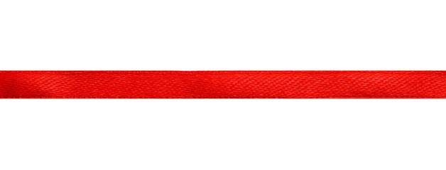 red satin ribbon clipping path