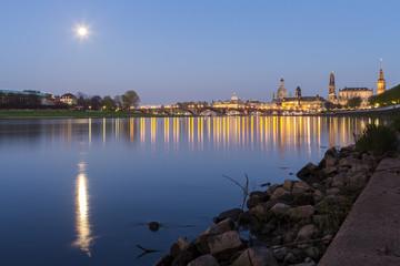 Dresden Mondaufgang