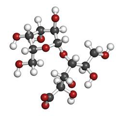 Lactobionic acid (lactobionate) molecule.