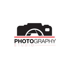 camera lens photographer logo icon design vector