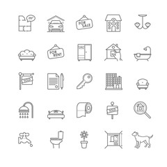 house and real estate icons set