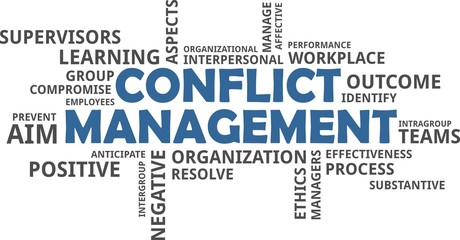 word cloud - conflict management