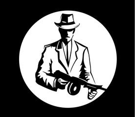 Gangster Schwarz Weiß